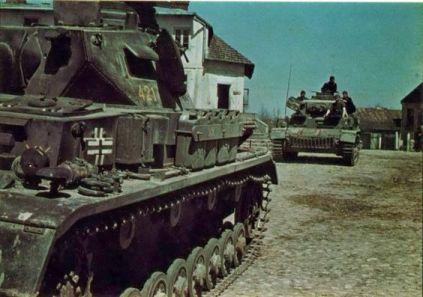 German medium tank PzKpfw-IV D of 6th panzer division in 1941